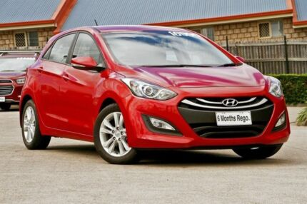 2014 Hyundai i30 GD2 MY14 SE Red/Black 6 Speed Sports Automatic Hatchback Hillcrest Logan Area Preview