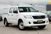 2013 Toyota Hilux GGN15R MY12 SR Double Cab 4x2 White 5 Speed Automatic Utility Blacktown Blacktown Area Preview