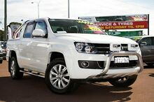 2012 Volkswagen Amarok 2H MY12 TDI400 4Mot Highline White 6 Speed Manual Utility Cannington Canning Area Preview