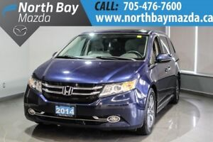 2014 Honda Odyssey Touring  Leather Interior + Power Tailgate