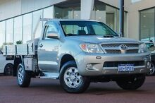 2007 Toyota Hilux KUN26R MY08 SR Silver 4 Speed Automatic Cab Chassis Wangara Wanneroo Area Preview
