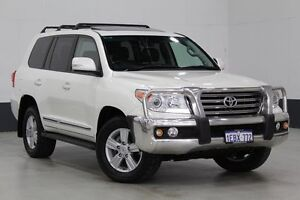 2012 Toyota Landcruiser VDJ200R MY12 Sahara (4x4) Crystal Pearl 6 Speed Automatic Wagon Bentley Canning Area Preview