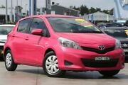 2012 Toyota Yaris NCP130R YR Pink 4 Speed Automatic Hatchback Penrith Penrith Area Preview