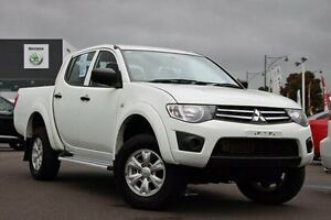 2014 Mitsubishi Triton MN MY15 GLX Double Cab White 5 Speed Manual Utility Nunawading Whitehorse Area Preview
