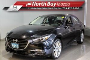 2018 Mazda 3 GT with Sunroof, Heated Seats, Heated Steering Whe