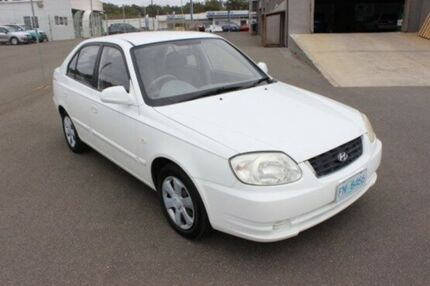 2005 Hyundai Accent LC MY04 GL White 4 Speed Automatic Hatchback Burnie Area Preview