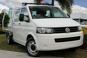 2010 Volkswagen Transporter T5 MY11 LWB White 6 Speed Manual Cab Chassis Kedron Brisbane North East Preview