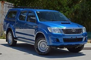 2013 Toyota Hilux KUN26R MY12 SR Double Cab Blue 5 Speed Manual Cab Chassis Aspley Brisbane North East Preview