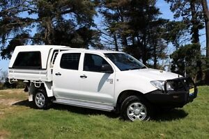 2011 Toyota Hilux KUN26R MY11 Upgrade SR (4x4) White 5 Speed Manual Beaconsfield Cardinia Area Preview