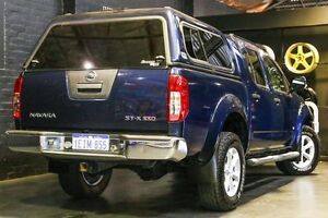 2012 Nissan Navara D40 S5 MY12 ST-X 550 Blue 7 Speed Sports Automatic Utility Northbridge Perth City Area Preview