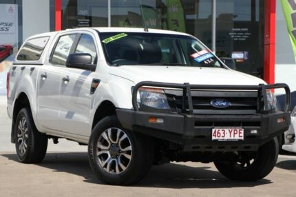 2015 Ford Ranger PX XL Double Cab White 6 Speed Sports Automatic Utility Kippa-ring Redcliffe Area Preview