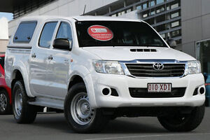 2012 Toyota Hilux KUN26R MY12 SR Double Cab White 5 Speed Manual Utility Hillcrest Logan Area Preview