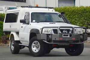 2010 Nissan Patrol GU 6 MY10 DX White 5 Speed Manual Cab Chassis Acacia Ridge Brisbane South West Preview