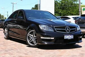 2012 Mercedes-Benz C63 W204 MY12 AMG SPEEDSHIFT MCT Black 7 Speed Sports Automatic Sedan Osborne Park Stirling Area Preview
