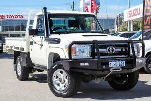 2013 Toyota Landcruiser VDJ79R MY13 GXL White 5 Speed Manual Cab Chassis