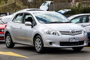 2011 Toyota Corolla ZRE152R MY11 Ascent Silver 6 Speed Manual Hatchback Ringwood East Maroondah Area Preview