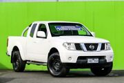 2010 Nissan Navara D40 ST-X King Cab White 5 Speed Automatic Utility Ringwood East Maroondah Area Preview