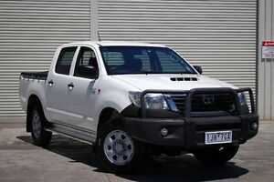 2011 Toyota Hilux KUN26R MY12 SR Double Cab White 5 Speed Manual Utility Seaford Frankston Area Preview