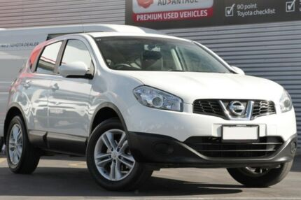 2013 Nissan Dualis J10W Series 4 MY13 ST Hatch X-tronic 2WD White 6 Speed Constant Variable Adelaide CBD Adelaide City Preview