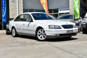 2007 Ford Fairlane BF Ghia White 6 Speed Sports Automatic Sedan