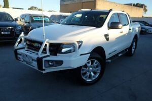 2014 Ford Ranger PX Wildtrak Double Cab White 6 Speed Sports Automatic Utility Dandenong Greater Dandenong Preview