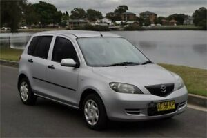2005 Mazda 2 DY Neo Silver 5 Speed Manual Hatchback Five Dock Canada Bay Area Preview