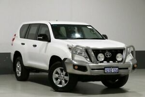 2015 Toyota Landcruiser Prado KDJ150R MY14 GX (4x4) White 5 Speed Sequential Auto Wagon