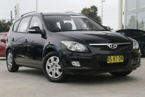 2012 Hyundai i30 FD MY11 SX cw Wagon Black 4 Speed Automatic Wagon