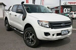 2013 Ford Ranger PX XL Double Cab White 6 Speed Sports Automatic Utility Keysborough Greater Dandenong Preview