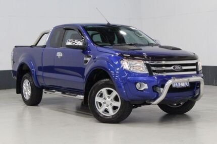 2014 Ford Ranger PX XLT 3.2 (4x4) Blue 6 Speed Automatic Super Cab Utility