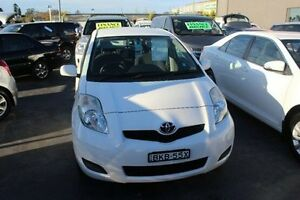 2009 Toyota Yaris NCP90R 08 Upgrade YR White 4 Speed Automatic Hatchback South Maitland Maitland Area Preview