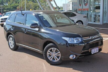 2013 Mitsubishi Outlander ZJ MY13 LS 4WD Black 6 Speed Sports Automatic Wagon Myaree Melville Area Preview