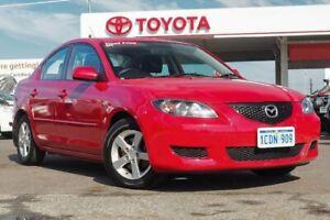 2005 Mazda 3 BK Maxx Red 5 Speed Manual Sedan