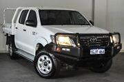 2012 Toyota Hilux GGN25R MY12 SR Double Cab White 5 Speed Automatic Utility Bayswater Bayswater Area Preview