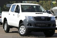 2012 Toyota Hilux KUN26R MY12 Workmate Double Cab White 5 Speed Manual Utility Balcatta Stirling Area Preview