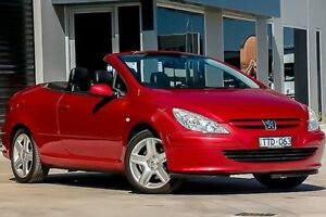 2004 Peugeot 307 T5 MY03 CC Sport Red 5 Speed Manual Cabriolet Morwell Latrobe Valley Preview