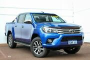 2015 Toyota Hilux GUN126R SR5 Double Cab Blue 6 Speed Sports Automatic Utility Maddington Gosnells Area Preview