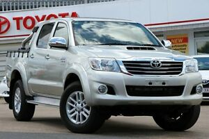 2013 Toyota Hilux KUN26R MY12 SR5 Double Cab Silver 4 Speed Automatic Utility Woolloongabba Brisbane South West Preview