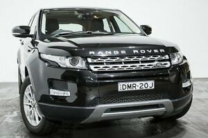2013 Land Rover Range Rover Evoque L538 MY13 TD4 CommandShift Pure Black 6 Speed Sports Automatic Rozelle Leichhardt Area Preview
