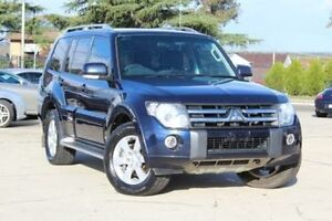 2010 Mitsubishi Pajero NT MY10 VR-X LWB (4x4) Electric Blue 5 Speed Auto Sports Mode Wagon Lansvale Liverpool Area Preview