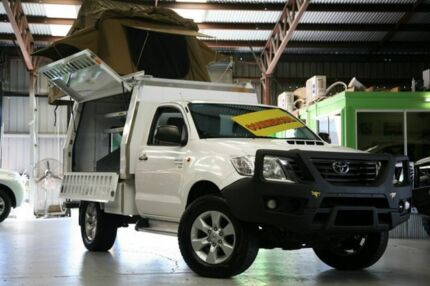 2013 Toyota Hilux KUN26R MY12 SR White 5 Speed Manual Cab Chassis Slacks Creek Logan Area Preview
