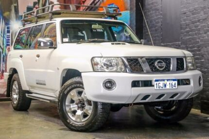 2010 Nissan Patrol GU 7 MY10 ST White 4 Speed Automatic Wagon Perth Perth City Area Preview