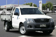 2013 Toyota Hilux TGN16R MY12 Workmate 4x2 Glacier White 5 Speed Manual Cab Chassis Adelaide CBD Adelaide City Preview