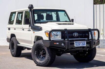 2018 Toyota Landcruiser VDJ76R Workmate White 5 Speed Manual Wagon Maddington Gosnells Area Preview