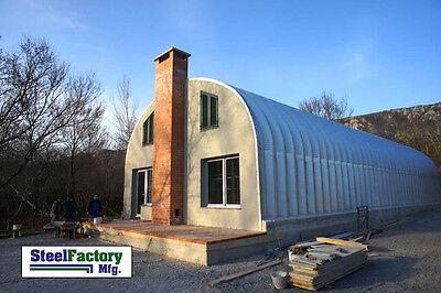 Steel Factory Mfg S30x30x14 Prefab Metal Arch Storage Building Garage Home Kit