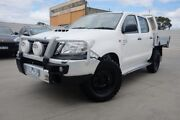 2014 Toyota Hilux KUN26R MY14 SR Double Cab White 5 Speed Manual Cab Chassis Dandenong Greater Dandenong Preview