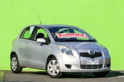 2007 Toyota Yaris NCP91R YRS Silver 4 Speed Automatic Hatchback Ringwood East Maroondah Area Preview