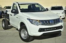 2015 Mitsubishi Triton MQ MY16 GLX White 6 Speed Manual Cab Chassis Capalaba West Brisbane South East Preview