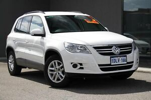 2010 Volkswagen Tiguan 5N MY10 125TSI 4MOTION White 6 Speed Sports Automatic Wagon Osborne Park Stirling Area Preview