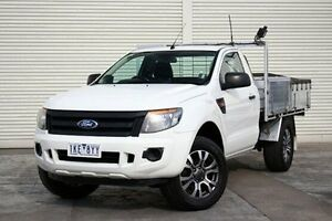 2011 Ford Ranger PX XL 4x2 Hi-Rider White 6 Speed Manual Cab Chassis Seaford Frankston Area Preview